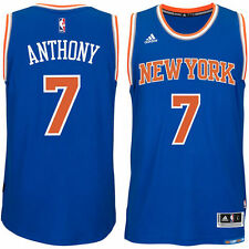 adidas Carmelo Anthony New York Knicks Blue Player Swingman Road Jersey