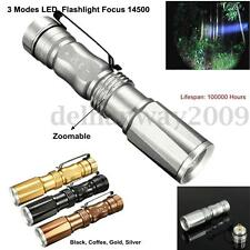Mini Flashlight Zoomable 3 Modes XPE LED Torch Waterproof Focus 14500 Lamp