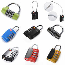 TSA Security Combination Travel Suitcase Luggage Bag Code Lock Padlock Black