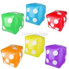 Inflatable Dice Children Blow Up Toys Hen Stag Party Games Swimming Kids Play