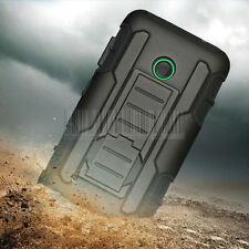 Rugged Hybrid Hard Armor Cover Case Stand Holster Belt Clip For Nokia Lumia 530