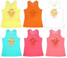 Girls Cute Strawberry Bow Crochet Racer Back Summer Vest Top 2 to 12 Years