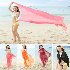 Women Dress Wrap Sarong Beach Swimwear Beach Bathing Suit Cover Up Bikini Scarf