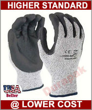 36 Pairs HPPE Foam Nitrile Coating Cut Resistant Protect Gloves Gray S,M,L,XL