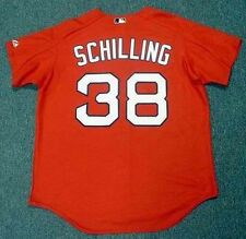 CURT SCHILLING Boston Red Sox 2005 Majestic Authentic Throwback Baseball Jersey