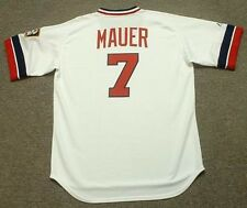 JOE MAUER Minnesota Twins 1980's Majestic Cooperstown Home Baseball Jersey