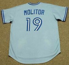 PAUL MOLITOR Toronto Blue Jays Majestic Cooperstown Away Baseball Jersey
