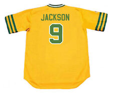 REGGIE JACKSON Oakland Athletics 1974 Majestic Cooperstown Home Baseball Jersey
