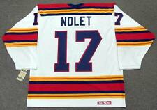 SIMON NOLET Kansas City Scouts 1975 CCM Vintage Throwback Home NHL Hockey Jersey