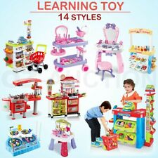 Kids Supermarket Store Kitchen Prertend Role Toy Stand Play Toys Cooking Set