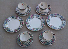 ROYAL CAULDON - VICTORIA PATTERN - SELECTION OF CUPS, SAUCERS & PLATES