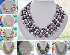 "X0306 Long 80"" 10mm south sea shell pearl necklace"