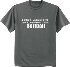 Softball dad funny saying shirt fathers day gift for dad men's t-shirt