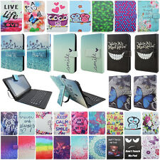 "7"" 7 inch Leather Case Cover USB Keyboard With Stylus For Android Windows Tablet"