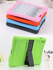 Removable Kick Stand Rubber Soft Silicone Shock Cover Proof Case For Apple iPad