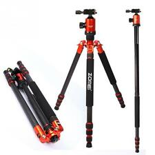 Z888C Professional Carbon Fiber Travel Tripod Monopod Ball Head for DSLR Camera