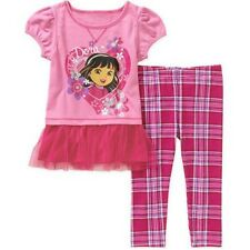 Dora The Explorer Baby Toddler Girl Tunic and Leggings Outfit Set - NWT