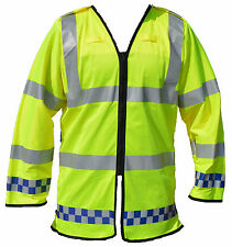 Ex Police Hi Viz Lightweight Over Waist Coat Traffic Cycle Recovery Security