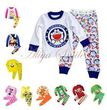 2PCS Baby Girls Boys Kids Cartoon Homewear Tops Pants Sleepwear Outfit Size 2-7Y