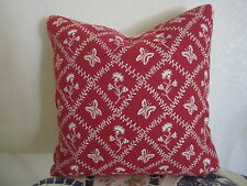 Gorgeous Pierre Deux Pillow Entrelacs Red & White French Country Butterfly Toile