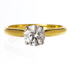 18ct Yellow Gold 1ct Solitaire Diamond Engagement Ring