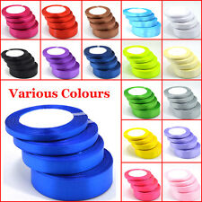 Quality Reels of Satin Ribbon Roll Long Lengths & Width 6,10,15,20, 25 & 38mm