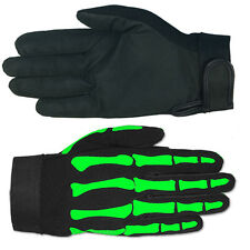 GREEN SKELETON BONES MECHANIC GLOVES