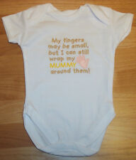 Wrap My Fingers Around Mummy Baby Vest Grow Babies Clothes Funny Gift Boy Girl