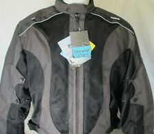 New Black/Gray Armored MESH Waterproof Z/O liner Motorcycle Biker Jacket Reg$149