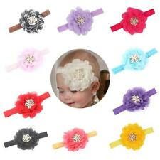 Infant Kids Baby Girls Elastic Pearl Decor Lace Floral Headband Cute Hair Band
