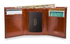 Bosca Mens Old Leather Double ID Trifold Wallet  53
