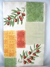 Asstd Sizes Red Berries Olives Fruit Patchwork Vinyl Tablecloth FREE SHIPPING
