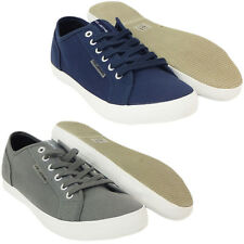 Mens Trainers Voi Plain Lace Up Canvas Trainer Footwear Pump 6 7 8 9 10 11
