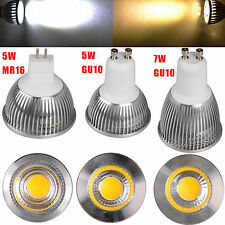 Ultra Bright 5W 7W MR16 GU10 LED COB Spot down light lamp bulb 85-265V COOL WARM