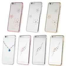 X-Fitted Protective Back Bumper Hard Cover w/Plating Rhinestones for iPhone B7G7