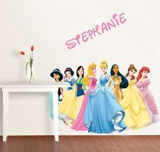 PERSONALIZED DISNEY PRINCESS GROUP Decal Removable WALL STICKER Home Decor Art