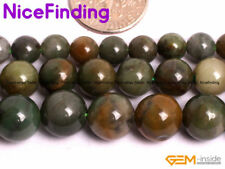 Natural Green African Jade Round Jadeite Stone Beads For Jewelry Making 6mm-12mm