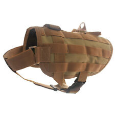 Tactical Police K9 Training Dog Harness Military Molle label Compact Dog Vest