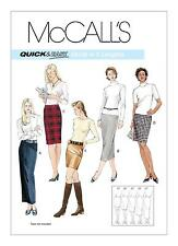 McCalls Easy SEWING PATTERN 3830 Misses Skirts In 5 Lengths-Mini To Maxi