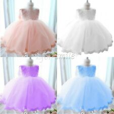 Infant Baby Girls Floral Lace Party Wedding Pageant Princess Tutu Dress 0-24M