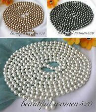 "X0173 long 100"" 8mm round south sea shell pearl necklace"