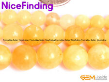 Wholesale Baeds Yellow Jade Round Stone Beads For Jewelry Making 6mm 8mm 10mm