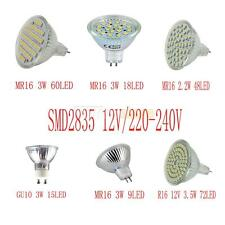 Bright GU10/MR16 4W 6W 7W AC 220-240V/DC 12V 2835SMD/3528SMD LED Spotlight Lamp