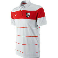 Nike Mens Toulouse 11/12 GS Stripe S/S Rugby Polo Shirt White/Red rrp£40