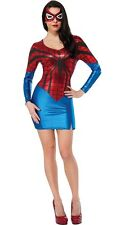 Sexy Spiderwoman Costume Red&Blue Hero Spidery Dress Hens Party Fancy Dress