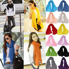 Multicolor Candy Scarf Long Crinkle Wrap Shawl Stole Style Fashion Women Girl