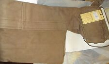 MENS PREMIUM BUFF TAN/BROWN BUFFALO LEATHER BIKER MOTORCYCLE CHAPS RETAIL $199