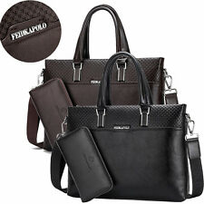 Genuine Leather FDKPOLO men's Laptop briefcase Business Shoulder travel bags