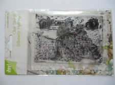 RUBBER STAMPS ~ CLEAR STAMPS SILHOUETTE HYDRANGEA POSTACRD by JOY STAMPS