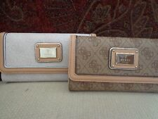 GUESS Hula Girl Slim Clutch Wallet - Cement or Brown - SG452766